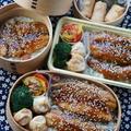 鰯の蒲焼き丼&魚肉ソーセージ餃子の皮包み揚げ