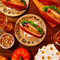 市販のロールパンにかぼちゃのフィリングなどを挟むだけ★苦手で無理に料理自体にハロウィンデコしなくてもキャラクターを作らなくても100均のハロウィンキッチンアイテムだけでもハロウィンがちゃんとしっかり楽しめちゃう♪ナツメグ香るかぼちゃフィリングとグリーンリーフもたっぷり!!ハムとチーズのロールパン【レシピ 1748】【スパイス大使】