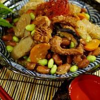 【ハチノスと金時豆と根菜の煮付け】特選松阪牛「トリッパ用ハチノス 」当選しました♪