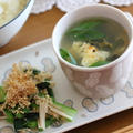 めかぶスープのお昼ごはん by 小春さん