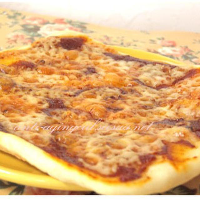 材料がたった2つのヨーグルトピザ生地とレモンとキャベツのピッザ