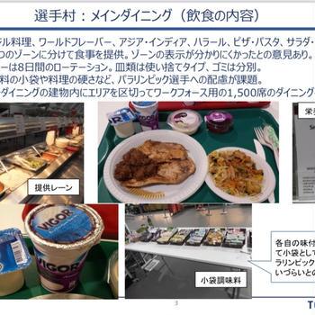 リオ大会の事例と東京オリンピック選手村の食事提供
