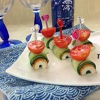 柚子コショウが決めて♪きゅうりとトマトの和風ピンチョス