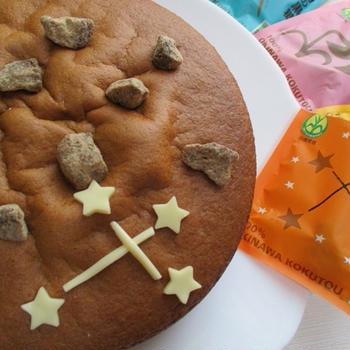 夏休み♡波照間島黒糖を楽しむ黒糖スポンジケーキ♪