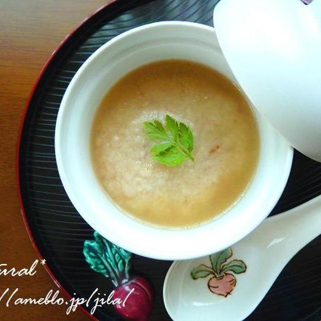 はくばく★押麦でもっちり美味しい肉まんじゅうスープ