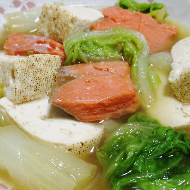 白菜と甘塩鮭の煮物<おいしさ満点>