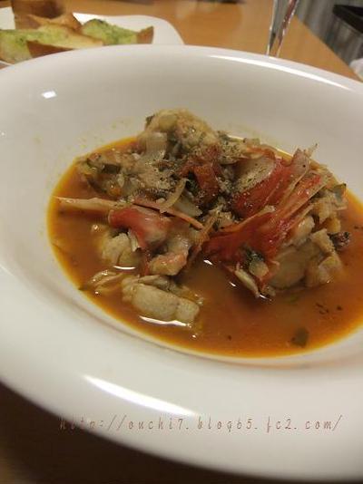 金目鯛のトマトスープ