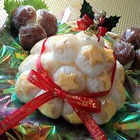 【レシピ】てまり寿司★ホワイトクリスマス【クリスマスツリー&ひいらぎ】
