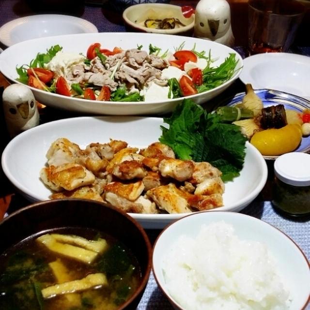 ホタテのペンネ➕肉豆腐サラダ➕カリカリチキン
