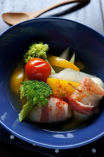 残り野菜で♪お餅入り洋風スープ
