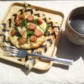 菜の花とソーセージのピザ @市販の天然酵母を使用