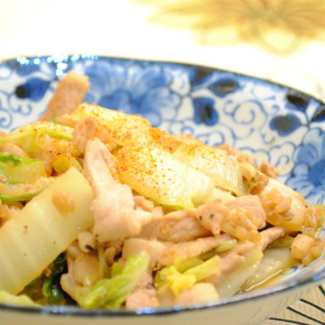 白菜と 豚肉の 醤油麹ソテー ☆