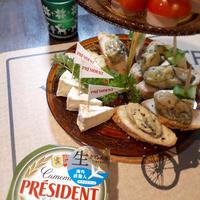 クリスマスパーティにカマンベールチーズのオードブル