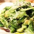 空豆とスナップエンドウのグリーンサラダ