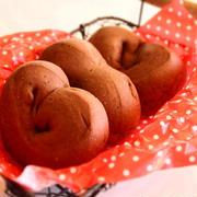 こども用バレンタインに♪ココアバナナのふんわりパン