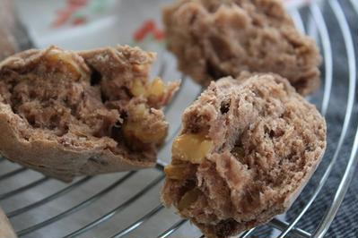 赤ワインとプルーンのパン&煮込みハンバーグ ~レシピ~
