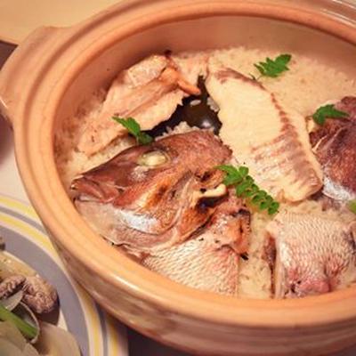 ククパで人気ワード検索1位「土鍋で炊く旨味しっかりなシンプル鯛めし」