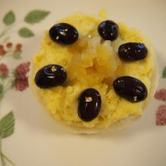 リメイクお節☆栗きんとん&黒豆でモンブラントースト♪