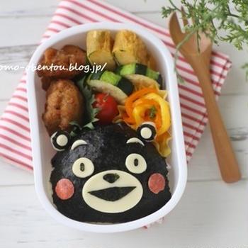キャラ弁レシピ動画*くまモンのお弁当