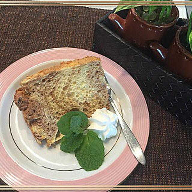 GODIVAのチョコレートリキュールでマーブルシフォンケーキは大人味