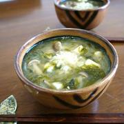 「あおさのり」の人気検索で1位になりました★あおさ海苔の豆腐としめじのお味噌汁♪