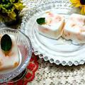 牛乳+練乳+みかん缶詰めで『豆腐パックで簡単アイス』大好きな牛乳アイスみかんの缶詰め...