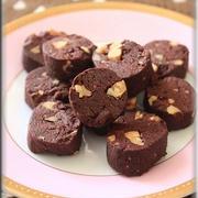 もうすぐバレンタイン♪マクロビスイーツ☆さつま芋ココアクッキーinくるみ