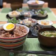 豚こまdeチャーシュー丼★2018/07/18 夕飯