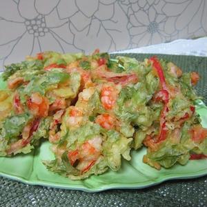夏野菜のスタミナかき揚げ