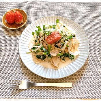 【レシピ】女性に嬉しいイソフラボン!明太子豆乳クリームパスタ