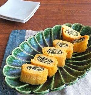 簡単アレンジ卵焼き☆明太バター醤油の海苔巻き卵♪お弁当にも◎