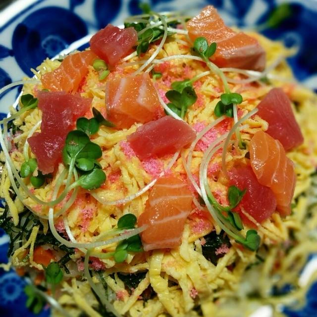 味覚視覚で楽しむ💟ちらし寿司✨
