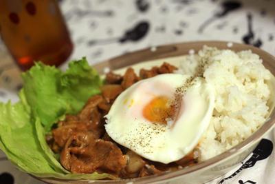 ☆★☆豚キムチの豆乳カルボナーラ・半熟卵のせ☆★☆