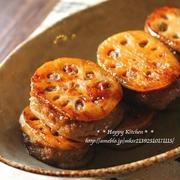 生姜たっぷり!蓮根の挽き肉はさみ照り焼き