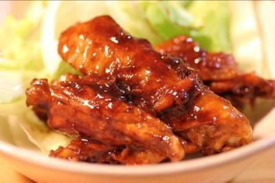 ■鶏の味噌黒酢焼き■