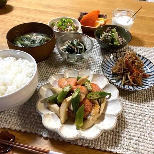【紅鮭とエリンギのにんにくバタポン】#魚料理#簡単#時短#スピードおかず#お弁当