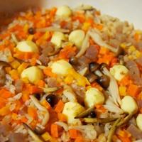 土鍋で簡単、旬のくわいで出汁いらずの中華おこわ