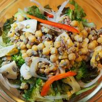 「BOSCOシーズニングオイル」で簡単作り置きサラダ*豆と雑穀・卵のマリネ