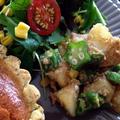 [レシピ]新じゃが惣菜第2弾‼︎ねっとり食感♡新じゃがとオクラのごま和え☺︎ by おかちまいさん