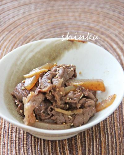 簡単*牛小間肉とこんにゃくのしぐれ煮。彼らの名言。