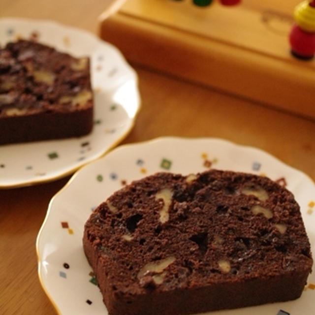 チョコレートのフルーツパウンド☆クリスマスにも