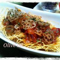 チキンカチャトーラでイタリアン皿うどん♪