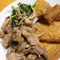 ★小松菜牛肉しいたけ厚揚げのすき煮