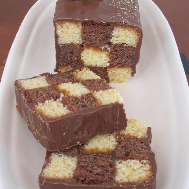 市松模様のチョコケーキ♪【サン・セバスチャン】