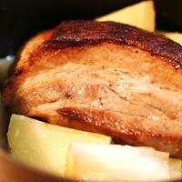 STAUBで作る、豚とネギのロースト