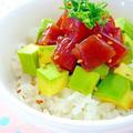 激うまアヒポキ丼&ポトフ風ホットサラダ by みぃさん