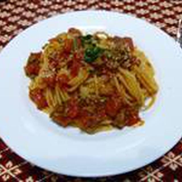 トマトとミンチのスパゲッティー☆