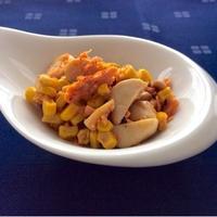 炒めるだけでもう1品☆『エリンギとコーンの鮭フレーク炒め』☆味の決めては七味唐辛子♪