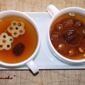 干し柿茶と、クローブと黒コショウの梨茶
