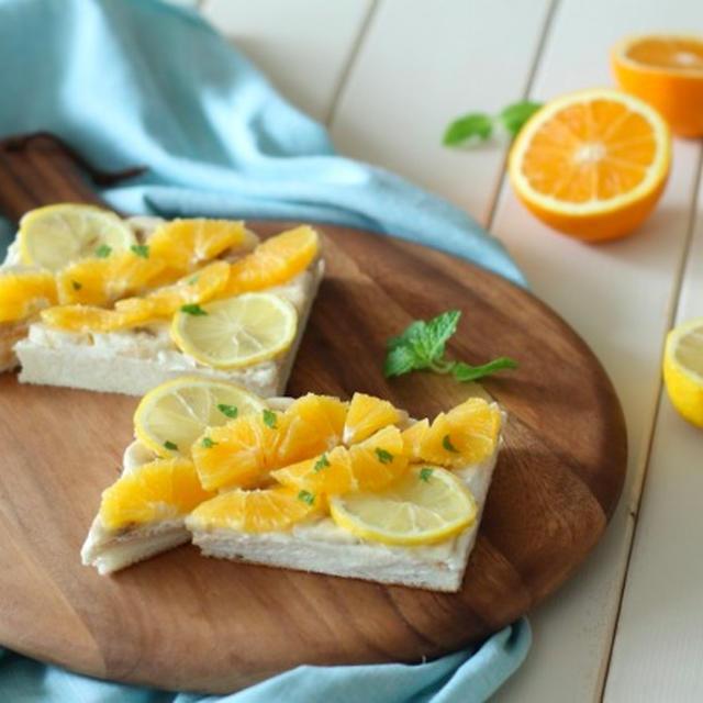 《朝時間.jp連載》簡単・おしゃれ!トーストにのせるだけ。はちみつレモンのフルーツオープンサンド